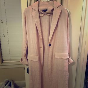 FULL SLEEVE PINK TOP SHOP DUSTER